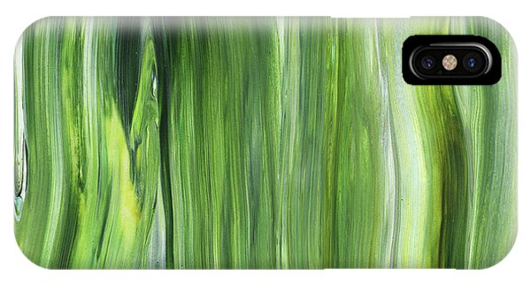 Organic Abstraction iPhone Case - Green Gray Organic Abstract Art For Interior Decor IIi by Irina Sztukowski