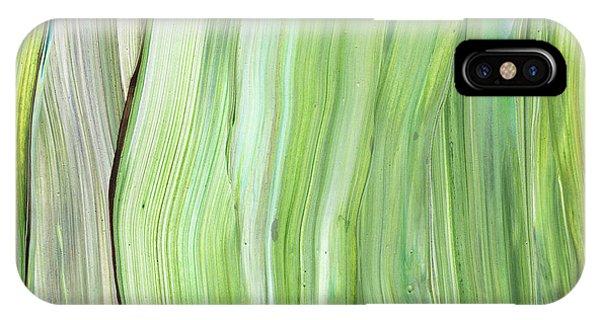 Organic Abstraction iPhone Case - Green Gray Organic Abstract Art For Interior Decor Vi by Irina Sztukowski