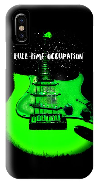 Green Guitar Full Time Occupation IPhone Case