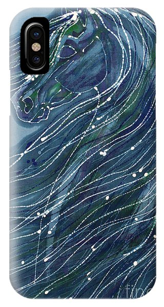 Green Horse With Flying Mane IPhone Case
