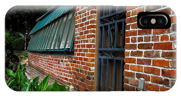 Green House Brick Wall IPhone Case