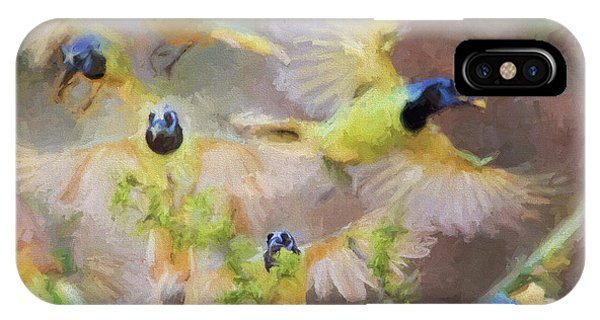 Green Jay Collage IPhone Case
