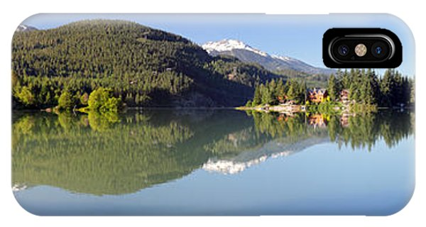 Green Lake Whistler Panorama Phone Case by Pierre Leclerc Photography