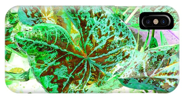 IPhone Case featuring the photograph Green Leafmania 1 by Marianne Dow