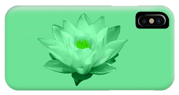 Green Lily Blossom IPhone Case