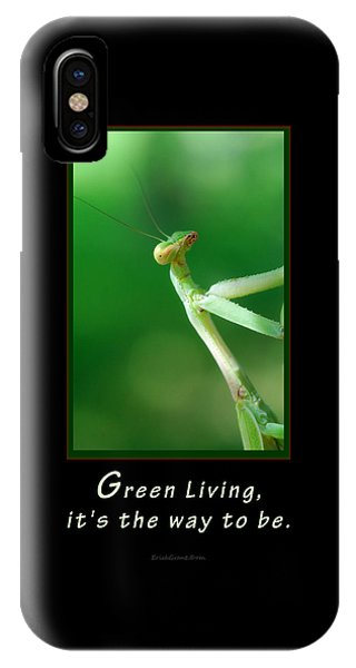 Green Living IPhone Case