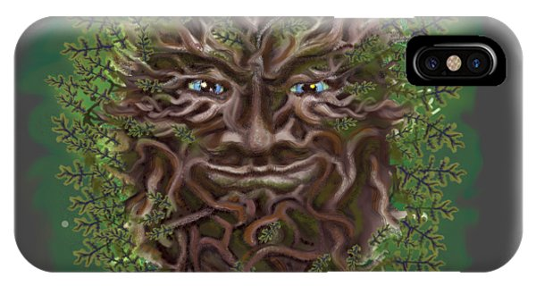 Green Man Of The Forest IPhone Case