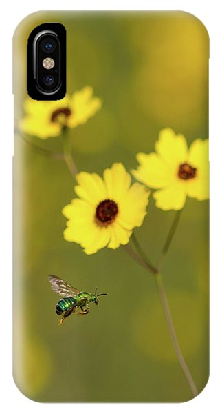 Green Metallic Bee IPhone Case