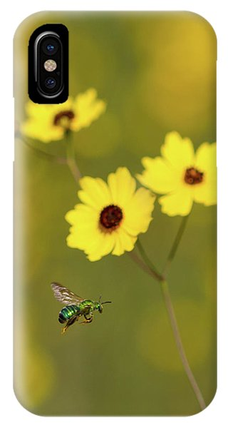 Green Metallic Bee IPhone Case