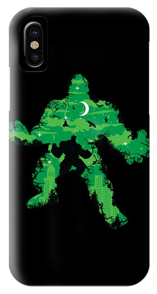 IPhone Case featuring the digital art Green Monster by Christopher Meade