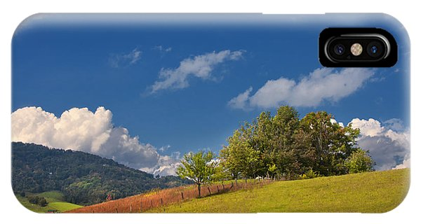 IPhone Case featuring the photograph Green Mountain Pasture by Ken Barrett