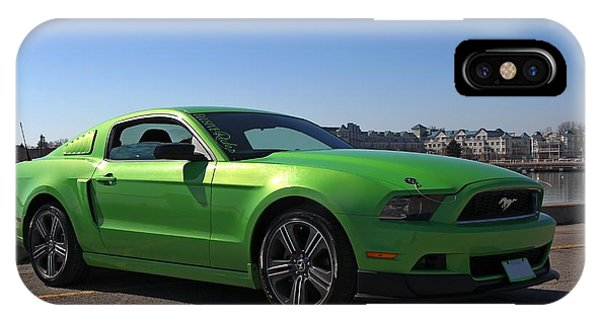 Green Mustang IPhone Case