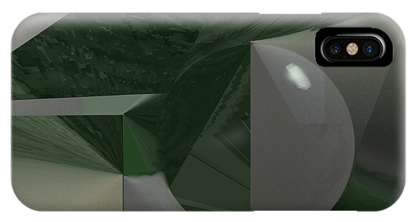 Green N Gray IPhone Case