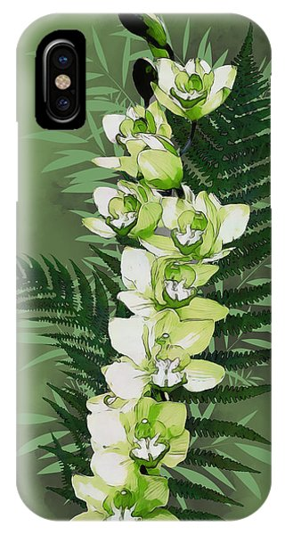 Green Orchid IPhone Case