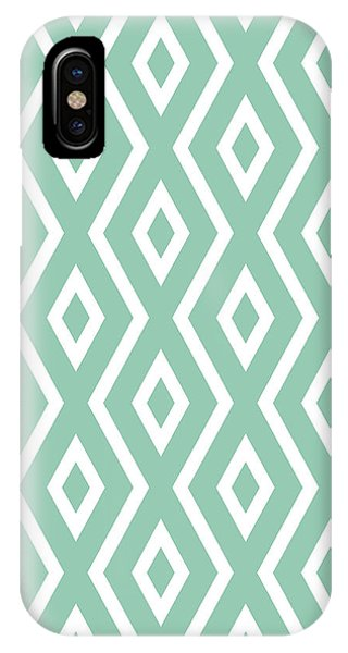 Pattern iPhone Case - Green Pattern by Christina Rollo