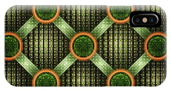 Green - Pattern - Fractal IPhone Case