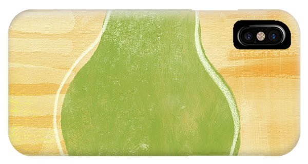 Pear iPhone Case - Green Pear 2- Art By Linda Woods by Linda Woods