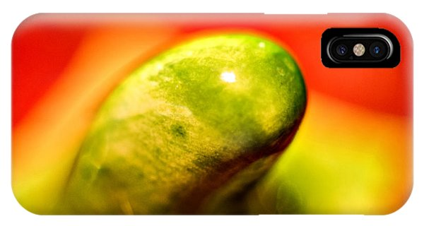 Green Red Liquid Clay IPhone Case