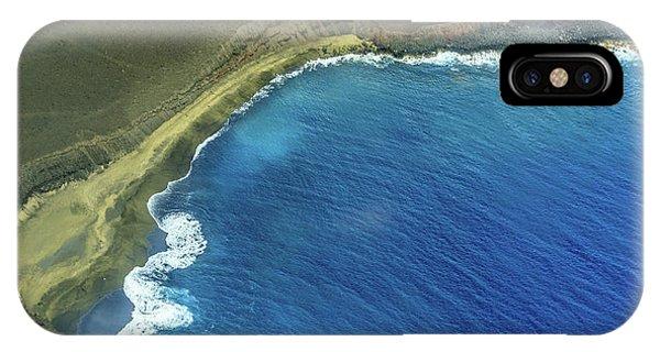Green Sand Beach Aerial IPhone Case