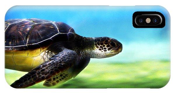 Green Sea Turtle 2 IPhone Case