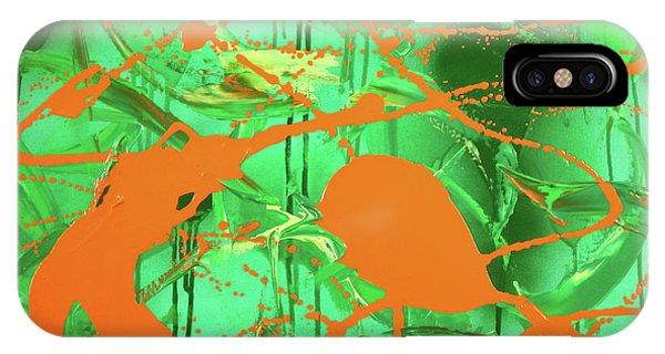 Green Spill IPhone Case