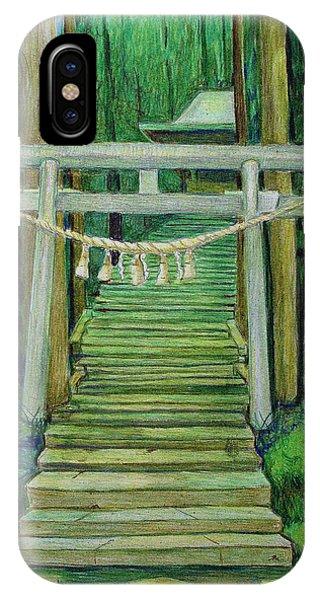Green Stairway IPhone Case
