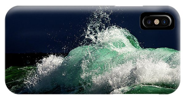 Tidal Waves iPhone Case - Green Storm by Stelios Kleanthous