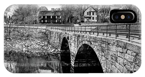 Green Street Bridge In Black And White IPhone Case