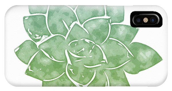 Succulent iPhone Case - Green Succulent 1- Art By Linda Woods by Linda Woods