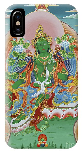 Green Tara With Retinue IPhone Case