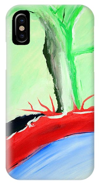 Green Tree Red Ridge IPhone Case