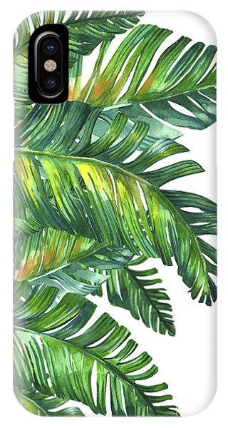 Pattern iPhone Case - Green Tropic  by Mark Ashkenazi