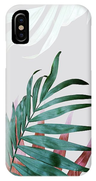 Southwest iPhone Case - Green Tropical Leaves, Fern Plant by PrintsProject