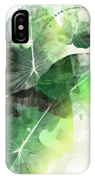 Tropical iPhone Case - Green Tropical by Mark Ashkenazi