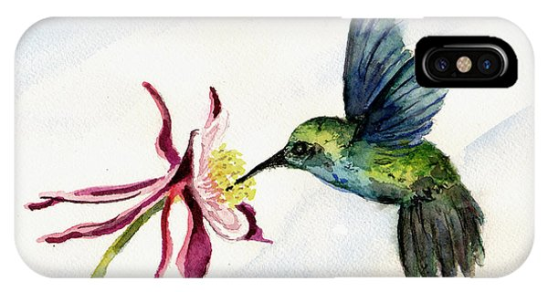 Green Violet-ear Hummingbird IPhone Case