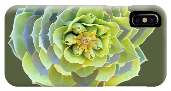 Green Weed Flower Kaliedoscope IPhone Case