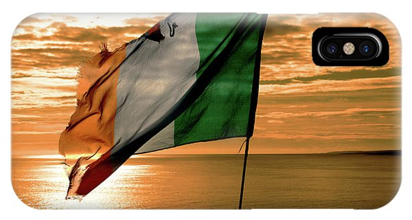 Flag Of Ireland At The Cliffs Of Moher IPhone Case