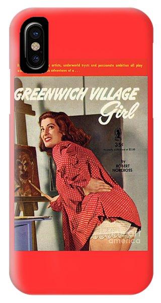 Greenwich Village Girl IPhone Case