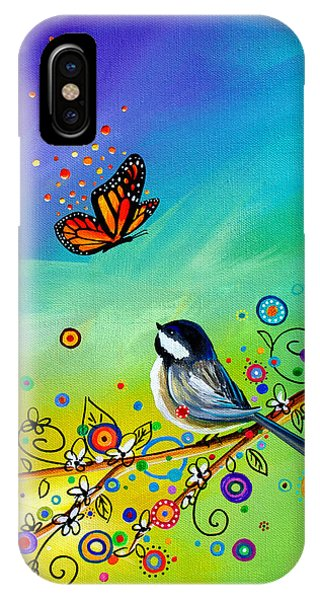 Chickadee iPhone Case - Greetings by Cindy Thornton