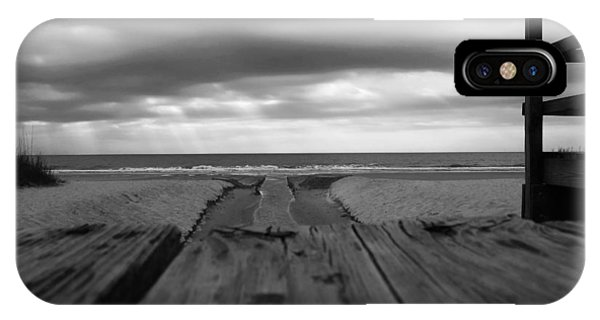 Grey Beach IPhone Case