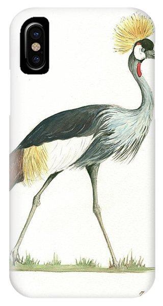 England iPhone Case - Grey Crowned Crane by Juan Bosco