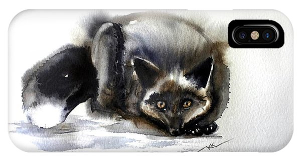 Grey Fox 1 IPhone Case