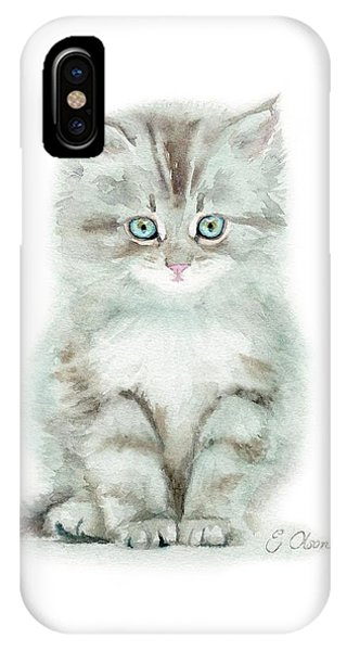 Grey Kitten IPhone Case