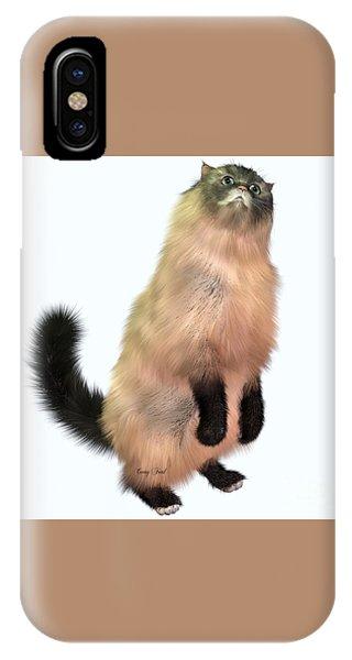 Grey Tabby Cat IPhone Case