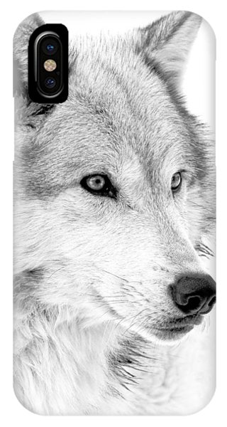 Grey Wolf Profile IPhone Case