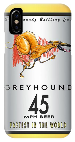 Pub iPhone Case - Greyhound 45 Mph Beer by John LaFree