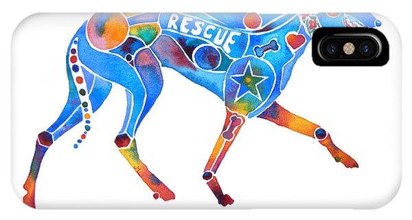 Greyhound Rescue Gffl IPhone Case
