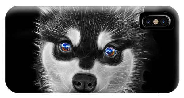 Greyscale Alaskan Klee Kai - 6029 -bb IPhone Case