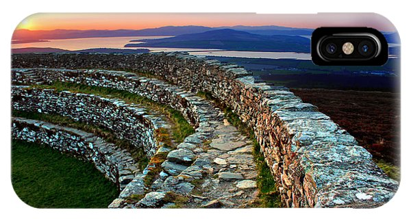 Grianan Fort Sunset IPhone Case