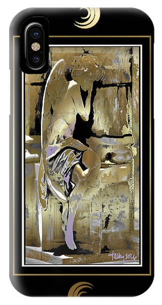 Grief Angel - Black Border IPhone Case